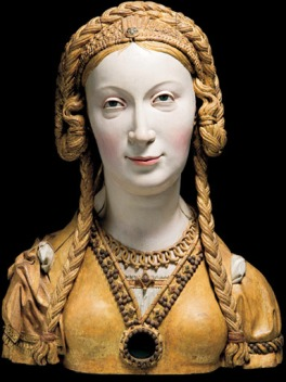 Reliquary bust of an unknown female saint, perhaps a companion of St Ursula