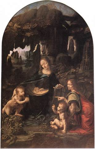 Leonardo, The Virgin of the Rocks, Musee du Louvre, Paris