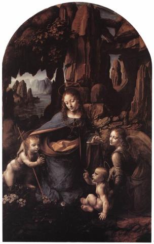 Leonardo, The Virgin of the Rocks, National Gallery, London