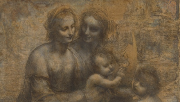 Leonardo: Madonna and Child with St Anne