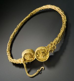 Golden torc from the Blair Drummond hoard