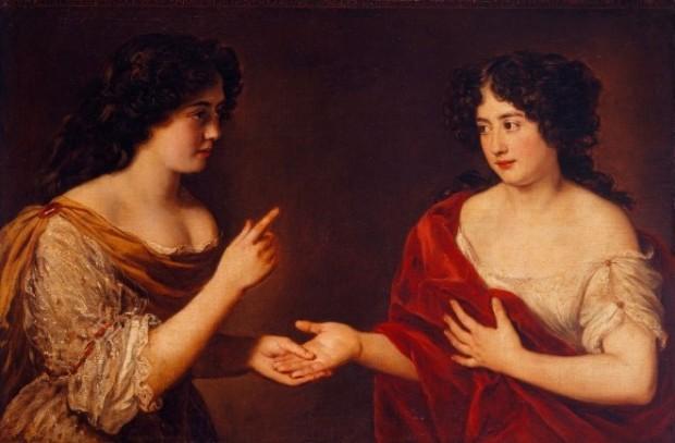 Voet: Hortense and Marie Mancini