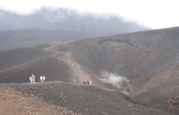 On the higher slopes of Mount Etna