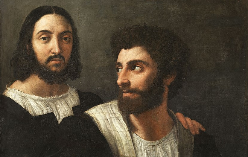 Raphael Self Portrait With A Friend