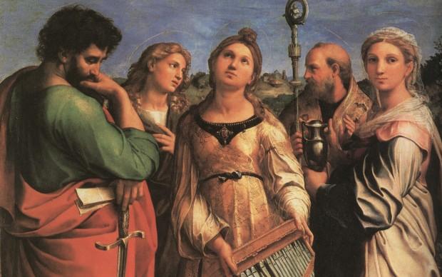 Raphael: St Cecilia (detail)
