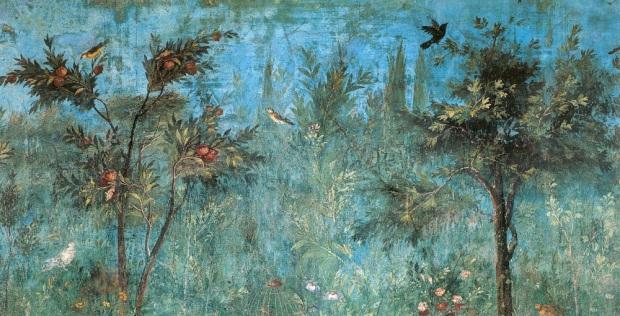 Roman garden fresco