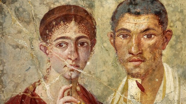 Roman fresco of a couple: Terentius Neo and his wife