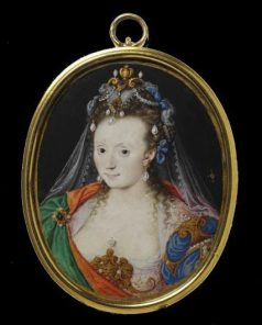 Isaac Oliver, Portrait of an unknown lady in masque costume