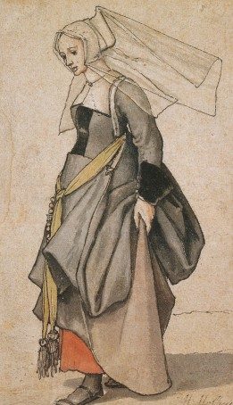 Hans Holbein the Younger, A Young Englishwoman, Ashmolean, Oxford