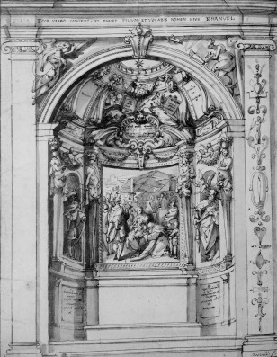 Jacopo Zucchi, Design for a Chapel, Christ Church, Oxford