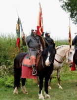 Norman cavalry watch their enemies forming a shield wall just before the Battle of Hastings begins