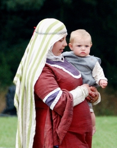 A Norman mother with her baby