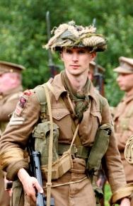 A British soldier from World War II