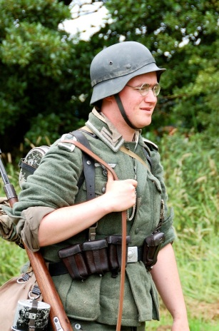 A German soldier from World War II