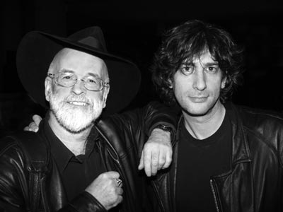 Terry Pratchett and Neil Gaiman