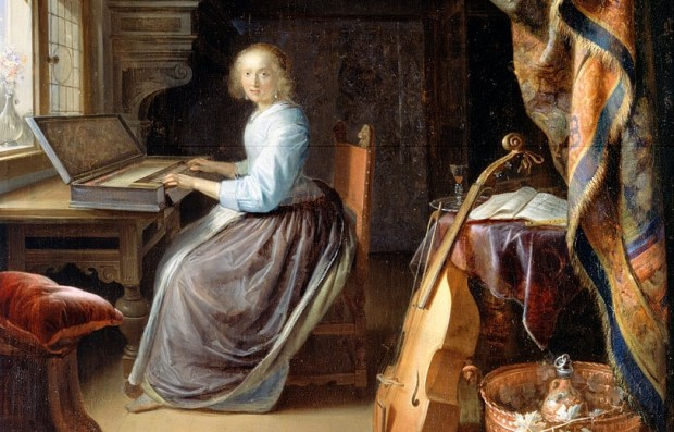 Dou: A lady at a clavichord
