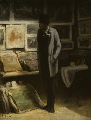 Honoré Daumier, The Print Collector