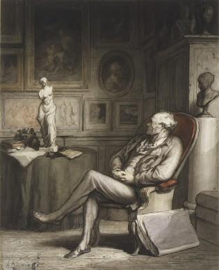 Honoré Daumier, The Connoisseur