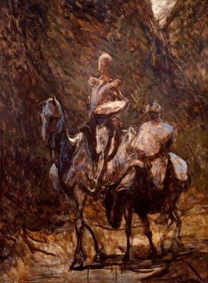 Honoré Daumier, Don Quixote and Sancho Panza, oil, Courtald Gallery