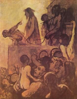 Honoré Daumier, Ecce Homo, oil