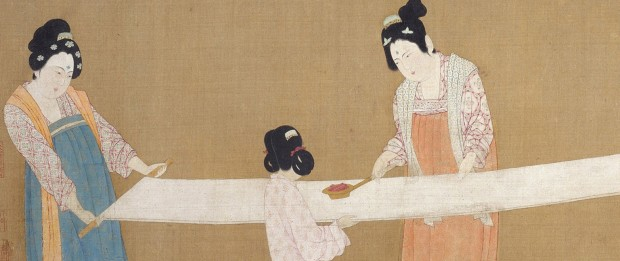 Emperor Huizong: Ladies preparing silk