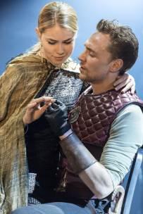 Virgilia (Birgitte Hjort Sørensen) and Martius (Tom Hiddleston): Coriolanus: Donmar Warehouse