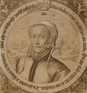 Hendrick Goltzius, Portrait of Maritgen Pietersdochter, the artist's mother-in-law, Museum Boijmans van-Beuningen, Rotterdam