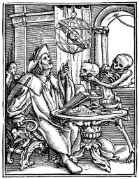 Hans Holbein the Younger, The Dance of Death: The Scholar, woodcut