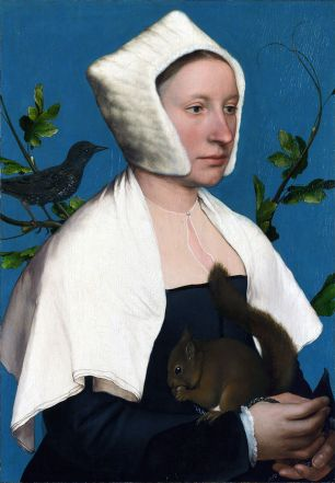 Hans Holbein the Younger, Portrait of a lady with a squirrel, National Gallery, London