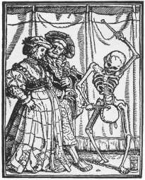 Hans Holbein the Younger, The Dance of Death: The Wealthy Couple, woodcut
