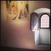 A Fra Angelico fresco offers the only splash of colour in this peaceful cell at San Marco