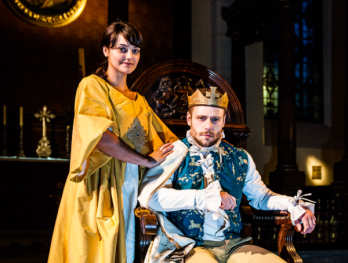 Queen Elizabeth (Laura Wickham) and King Edward IV (Sam Donnelly)