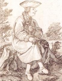 Pier Leone Ghezzi, Portrait of Gaetano Majorano, il Caffarelli