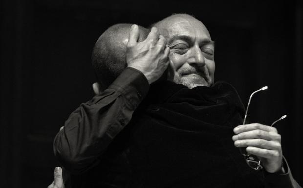 Alessandro de' Marchis embraces Franco Fagioli