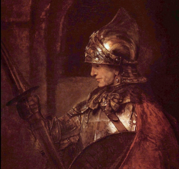 Rembrandt: A Man in Armour
