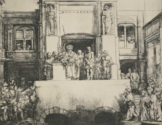 Rembrandt, Christ presented to the people, 8th state