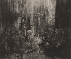 Rembrandt, The Three Crosses, 4th state