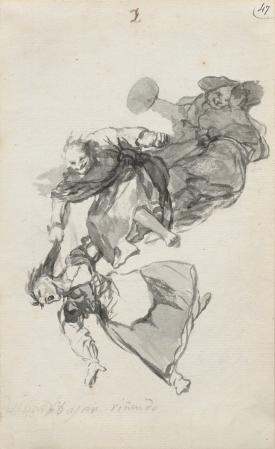 Francisco José de Goya y Lucientes, Bajan riñendo (They go down quarrelling) © Alex Jamison