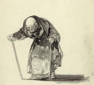 Francisco José de Goya y Lucientes, No puede ya con los 98 años (He can't any more at the age of 98) (detail)
