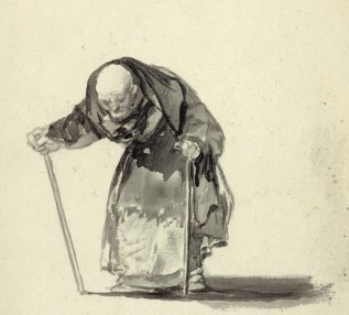 Francisco José de Goya y Lucientes, No puede ya con los 98 años (He can't any more at the age of 98) (detail)