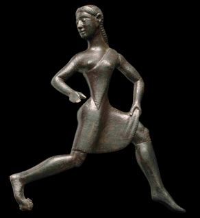 A Spartan girl running, 6th century BC, British Museum