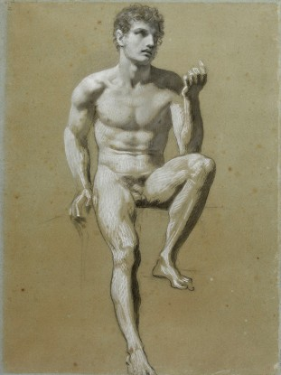 Pierre-Paul Prud'hon, A seated male nude, Musée Baron Martin, France