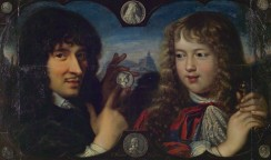 The distinguished medallist Jean Warin teaches the young Louis XIV to understand medals in this painting from the Monnaie de Paris