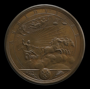 Medal proclaiming importance of hard work: 'Assiduitas'