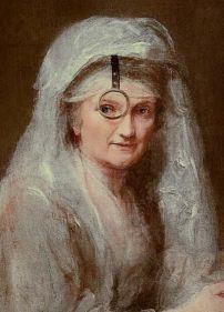Anna Dorothea Therbusch, Self Portrait (detail), Gemäldegalerie, Berlin