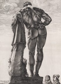 Hendrick Goltzius, The Farnese Hercules, engraving