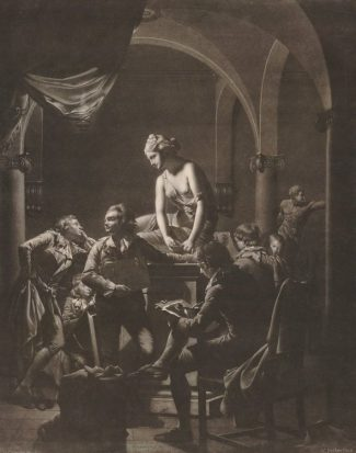 William Pether, An Art Academy, mezzotint, British Museum, London