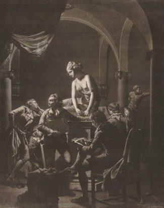 William Pether, An Art Academy, mezzotint, British Museum, London