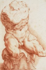 Hendrick Goltzius, Study from a copy of the Belvedere Torso