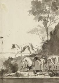 Giandomenico Tiepolo, Hunting dogs,, Kupferstichkabinett, Berlin
